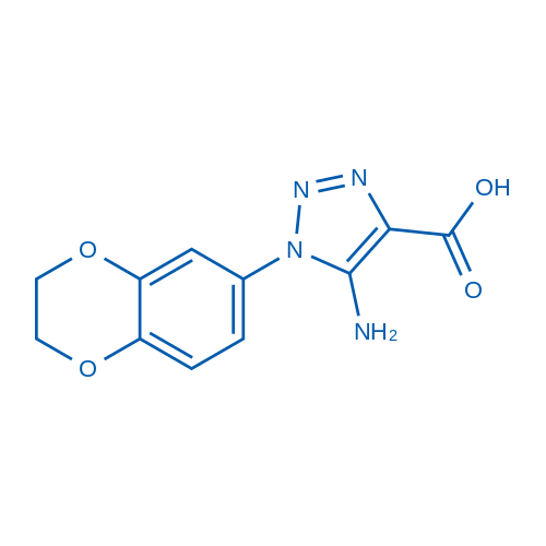 5-Amino-1-(2,3-dihydrobenzo[b][1,4]dioxin-6-yl)-1H-1,2,3-triazole-4-carboxylic acid