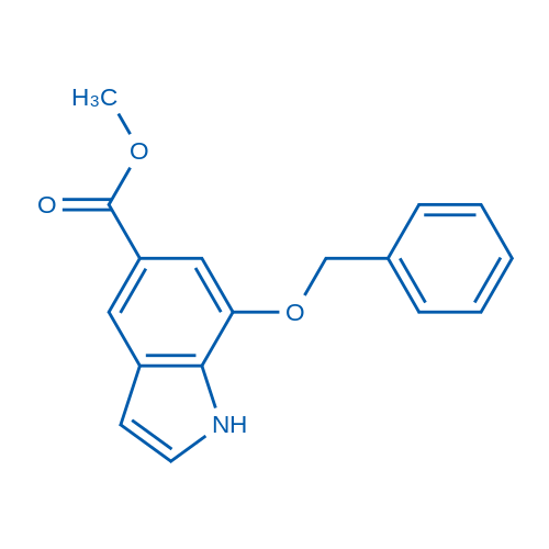 Methyl 7-(benzyloxy)-1H-indole-5-carboxylate