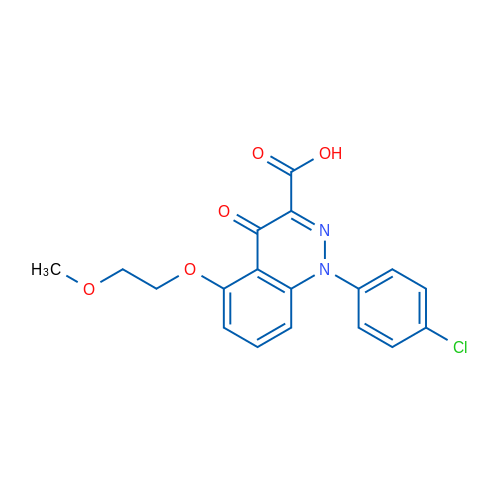 1-(4-Chlorophenyl)-5-(2-methoxyethoxy)-4-oxo-1,4-dihydrocinnoline-3-carboxylic acid