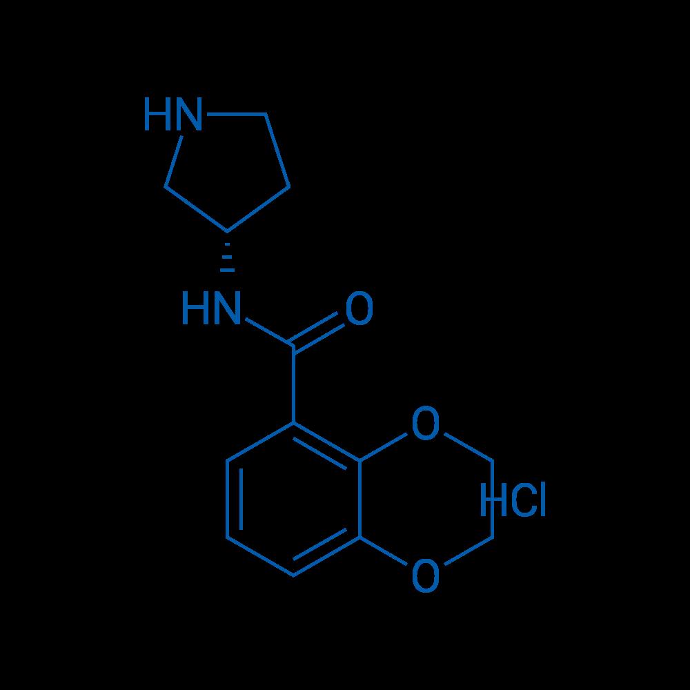 (S)-N-(Pyrrolidin-3-yl)-2,3-dihydrobenzo[b][1,4]dioxine-5-carboxamide hydrochloride