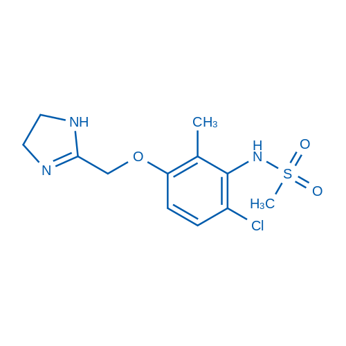 N-(6-Chloro-3-((4,5-dihydro-1H-imidazol-2-yl)methoxy)-2-methylphenyl)methanesulfonamide