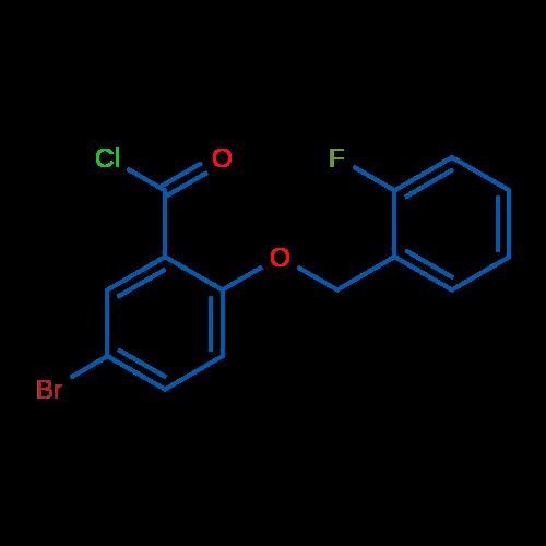5-Bromo-2-((2-fluorobenzyl)oxy)benzoyl chloride