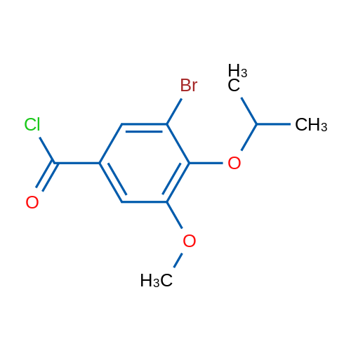 3-Bromo-4-isopropoxy-5-methoxybenzoyl chloride