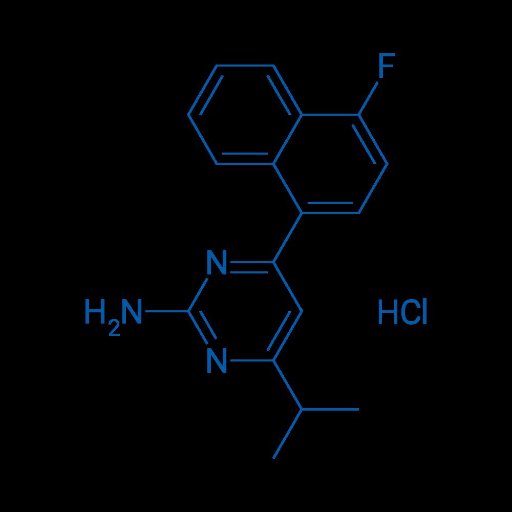 4-(4-Fluoronaphthalen-1-yl)-6-isopropylpyrimidin-2-amine hydrochloride