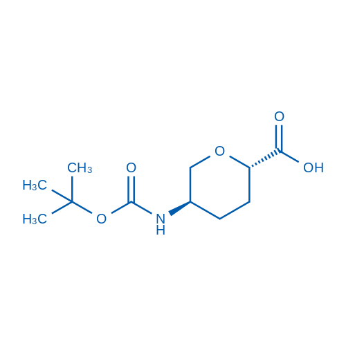 (2S,5R)-5-((tert-Butoxycarbonyl)amino)tetrahydro-2H-pyran-2-carboxylic acid