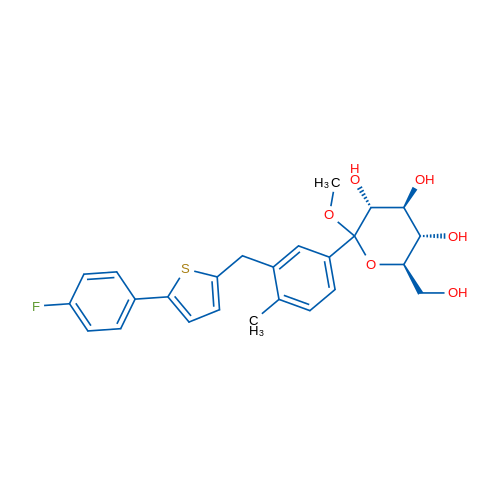 (3R,4S,5S,6R)-2-(3-((5-(4-Fluorophenyl)thiophen-2-yl)methyl)-4-methylphenyl)-6-(hydroxymethyl)-2-methoxytetrahydro-2H-pyran-3,4,5-triol