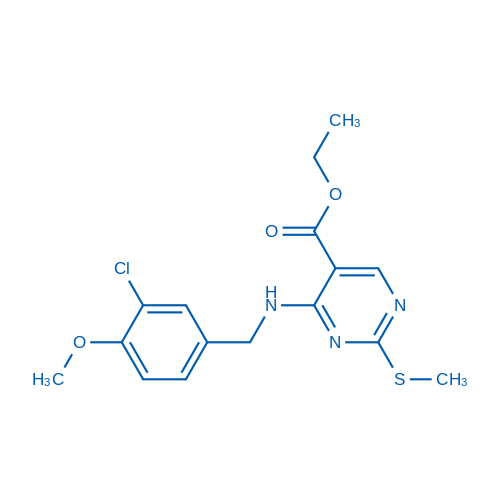 Ethyl 4-((3-chloro-4-methoxybenzyl)amino)-2-(methylthio)pyrimidine-5-carboxylate