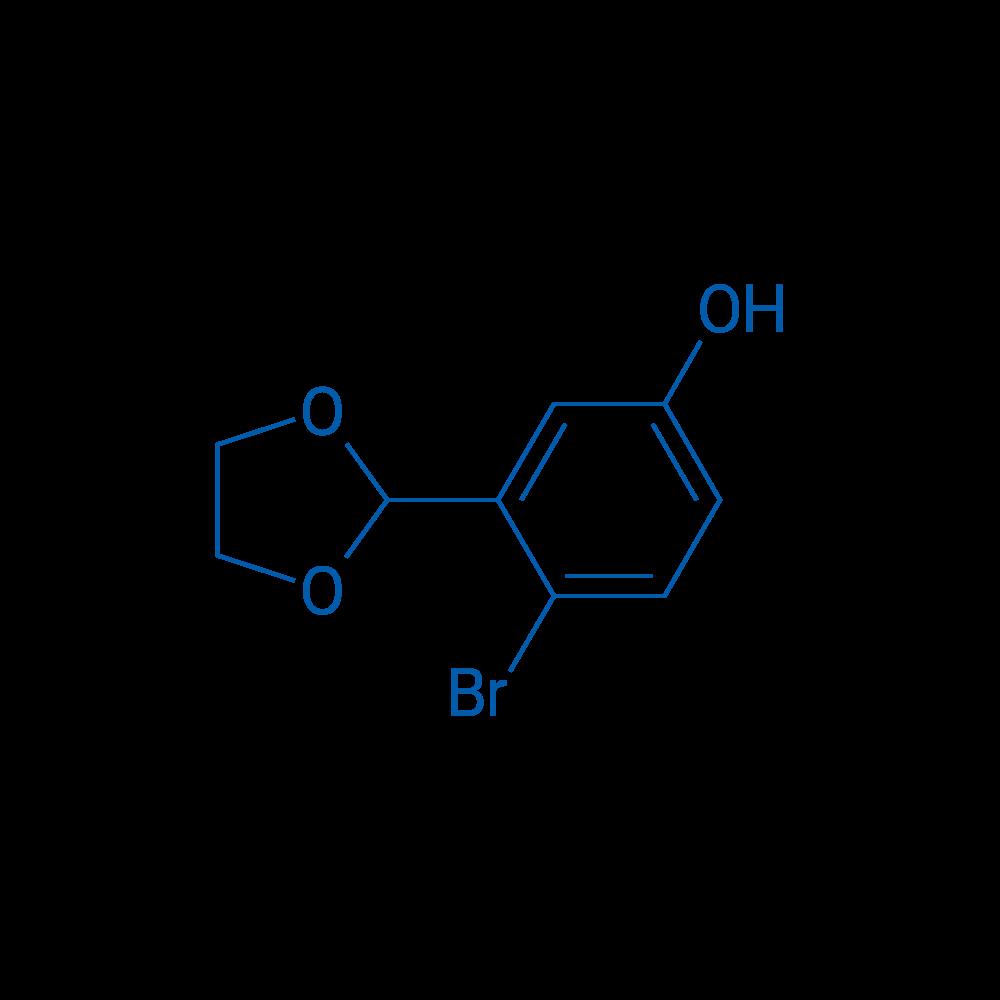 4-Bromo-3-(1,3-dioxolan-2-yl)phenol
