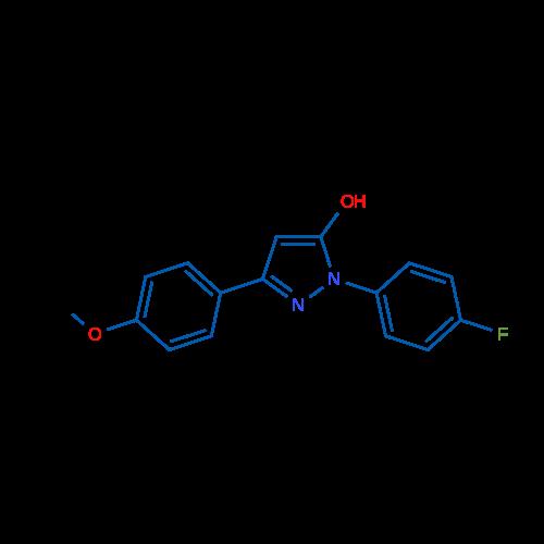 1-(4-Fluorophenyl)-3-(4-methoxyphenyl)-1H-pyrazol-5-ol