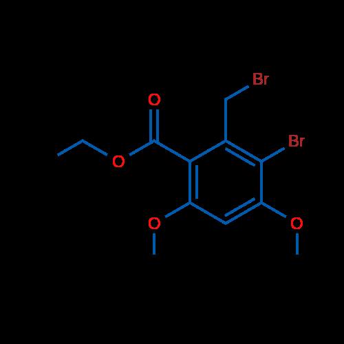 Ethyl 3-bromo-2-(bromomethyl)-4,6-dimethoxybenzoate