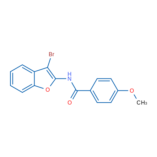 N-(3-Bromobenzofuran-2-yl)-4-methoxybenzamide