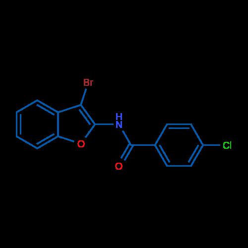 N-(3-Bromobenzofuran-2-yl)-4-chlorobenzamide