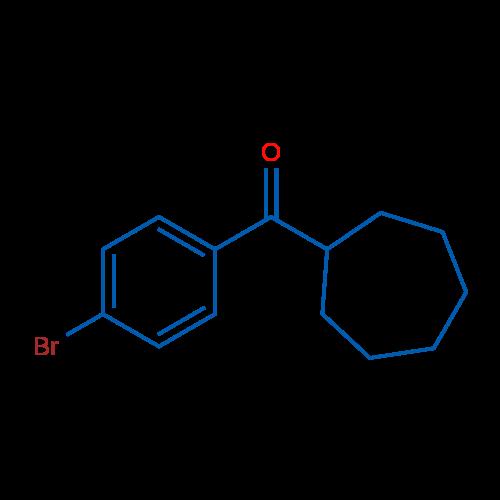 (4-Bromophenyl)(cycloheptyl)methanone
