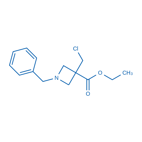 Ethyl 1-benzyl-3-(chloromethyl)azetidine-3-carboxylate