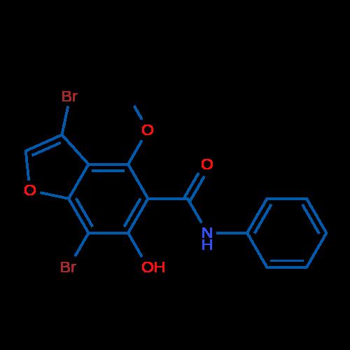 3,7-Dibromo-6-hydroxy-4-methoxy-N-phenylbenzofuran-5-carboxamide