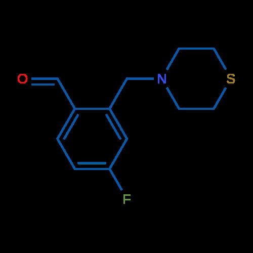 4-Fluoro-2-(thiomorpholinomethyl)benzaldehyde