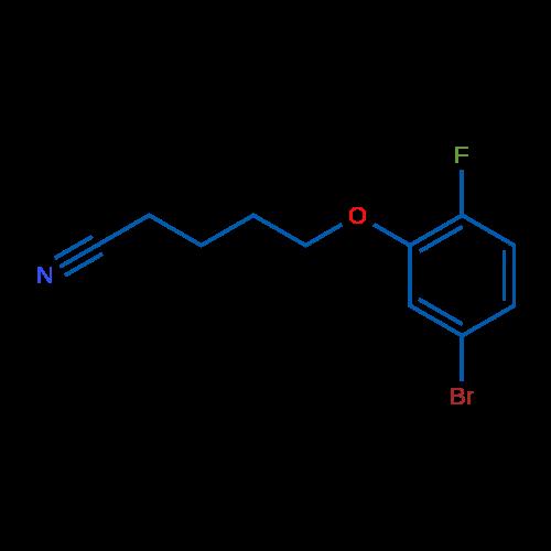 5-(5-Bromo-2-fluorophenoxy)pentanenitrile