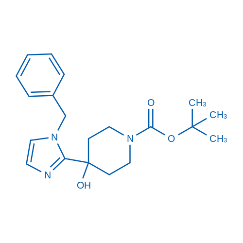 tert-Butyl 4-(1-benzyl-1H-imidazol-2-yl)-4-hydroxypiperidine-1-carboxylate