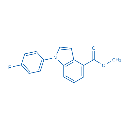 Methyl 1-(4-fluorophenyl)-1H-indole-4-carboxylate
