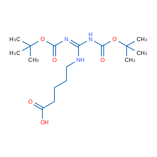 5-(2,3-Bis(tert-butoxycarbonyl)guanidino)pentanoic acid