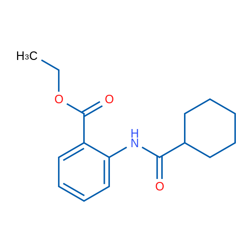 Ethyl 2-(cyclohexanecarboxamido)benzoate