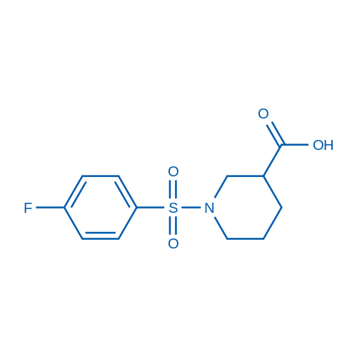 1-((4-Fluorophenyl)sulfonyl)piperidine-3-carboxylic acid