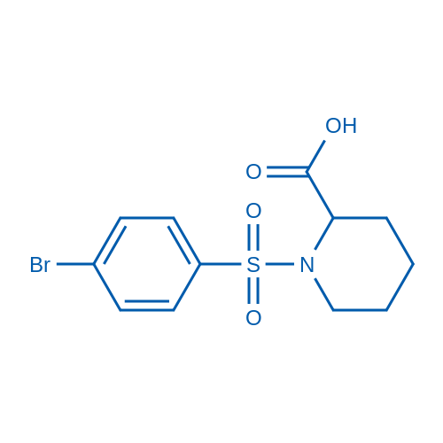 1-((4-Bromophenyl)sulfonyl)piperidine-2-carboxylic acid
