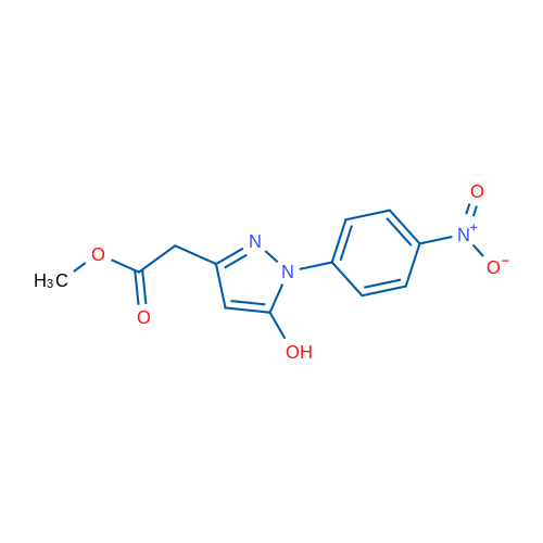 Methyl 2-(5-hydroxy-1-(4-nitrophenyl)-1H-pyrazol-3-yl)acetate