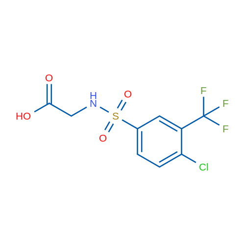 2-(4-Chloro-3-(trifluoromethyl)phenylsulfonamido)acetic acid