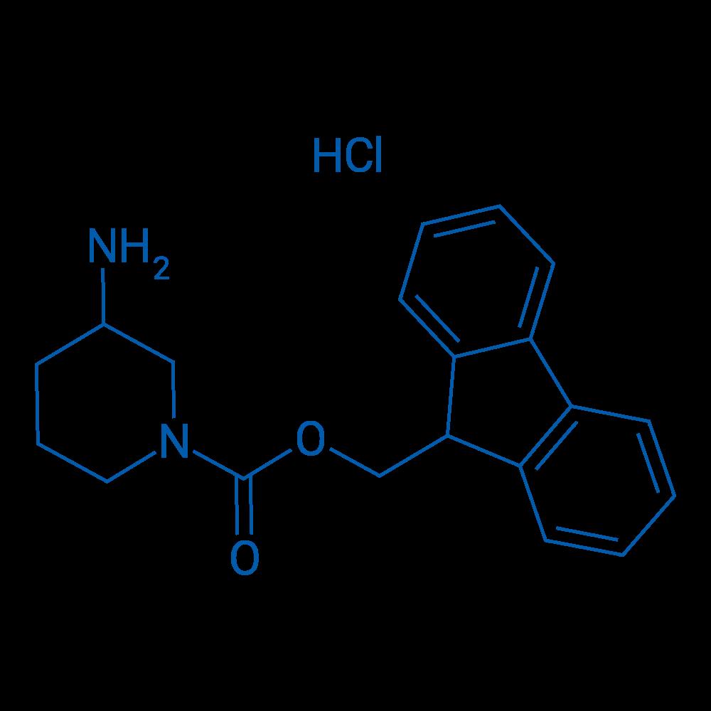 (9H-Fluoren-9-yl)methyl 3-aminopiperidine-1-carboxylate hydrochloride