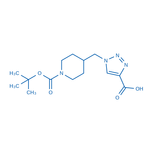 1-((1-(tert-Butoxycarbonyl)piperidin-4-yl)methyl)-1H-1,2,3-triazole-4-carboxylicacid