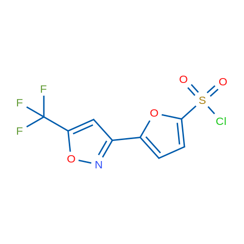 5-(5-(Trifluoromethyl)isoxazol-3-yl)furan-2-sulfonyl chloride