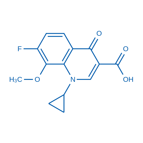 1-Cyclopropyl-7-fluoro-8-methoxy-4-oxo-1,4-dihydroquinoline-3-carboxylicacid