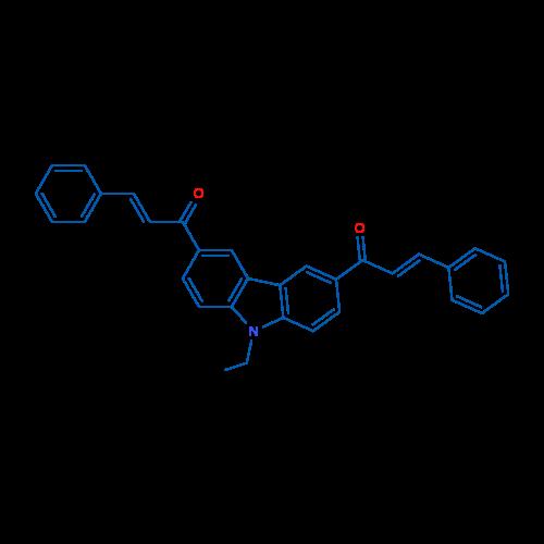 1,1'-(9-Ethyl-9H-carbazole-3,6-diyl)bis(3-phenylprop-2-en-1-one)