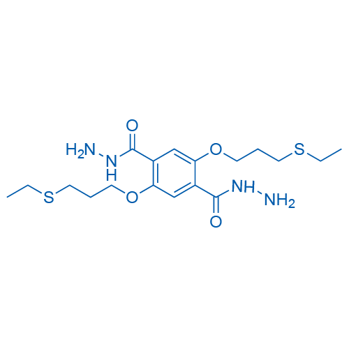 1,4-Benzenedicarboxylic acid, 2,5-bis[3-(ethylthio)propoxy]-, 1,4-dihydrazide