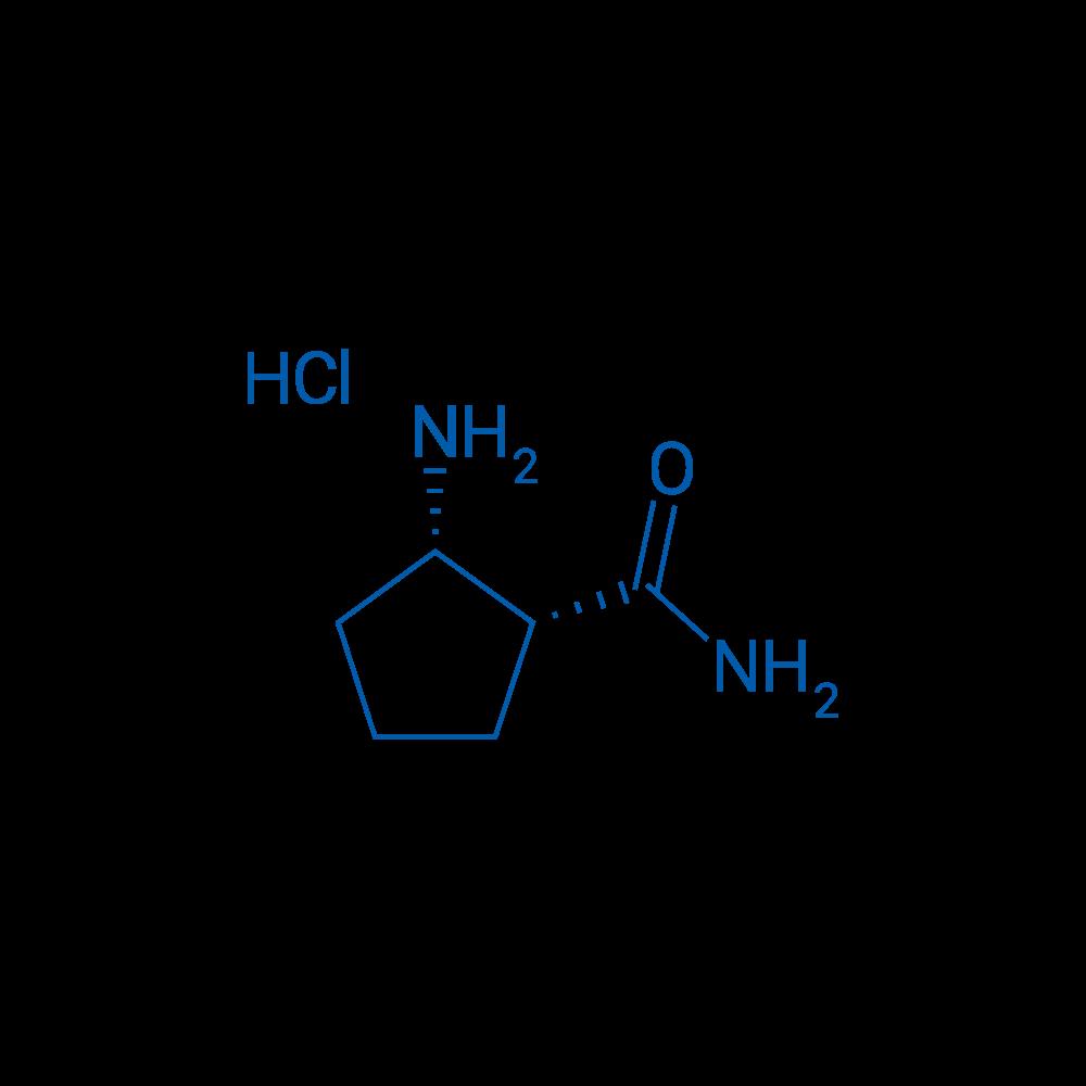 rel-(1R,2S)-2-Aminocyclopentanecarboxamide hydrochloride