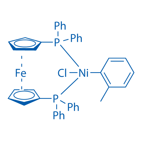 Chloro(2-methylphenyl)[1,1'-bis(diphenylphosphino)ferrocene]nickel (II)