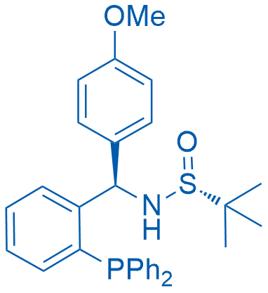 (R)-N-((R)-(2-(diphenylphosphanyl) phenyl)(4-methoxyphenyl)methyl)-2-methylpropane-2-sulfinamide