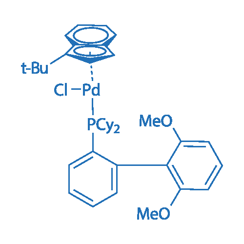 Chloro(1-t-butylindenyl)[2-(dicyclohexylphosphino)-2',6'-dimethoxy-1,1'-biphenyl]palladium(II)