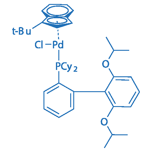 Chloro(1-t-butylindenyl)[2-(dicyclohexylphosphino)-2',6'-di-i-propoxy-1,1'-biphenyl]palladium(II)