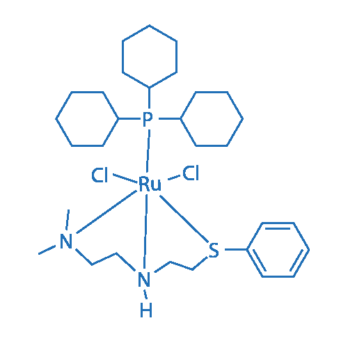 Dichloro[N1,N1-dimethyl-N2-[2-(phenylthio-κS)ethyl]-1,2-ethanediamine-κN1,κN2](tricyclohexylphosphine)ruthenium(II)