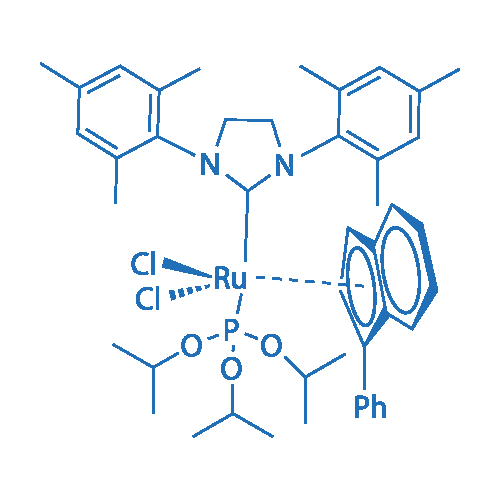 Tri(i-propoxy)phosphine(3-phenyl-1H-inden-1-ylidene)[1,3-bis(2,4,6-trimethylphenyl)-4,5-dihydroimidazol-2-ylidene]ruthenium (II) dichloride, min. 95%  cis-Caz-1