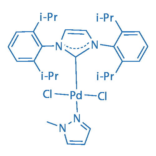 Azacyclocarbene-palladium chloride-1-methylpyrazole complex