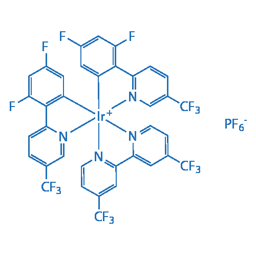 4,4'-Bis(trifluoromethyl)-2,2'-bipyridinebis[3,5-difluoro-2-[5-trifluoromethyl-2-pyridinyl)phenyl] iridium(III) hexafluorophosphate
