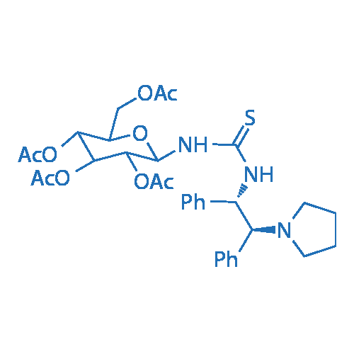 (2R,3R,4S,5R,6R)-2-(Acetoxymethyl)-6-(3-((1S,2S)-1,2-diphenyl-2-(pyrrolidin-1-yl)ethyl)thioureido)tetrahydro-2H-pyran-3,4,5-triyl triacetate