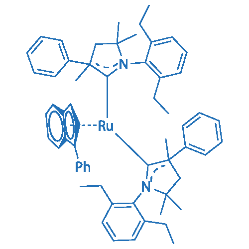 Bis(1-(2,6-diethylphenyl)-3,5,5-trimethyl-3-phenylpyrrolidin-2-ylidene)(3-phenyl-1H-inden-1-ylidene)ruthenium(VIII) chloride