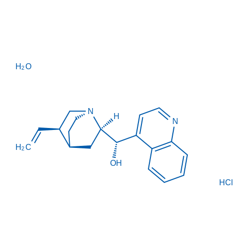(S)-Quinolin-4-yl((1S,2R,4S,5R)-5-vinylquinuclidin-2-yl)methanol hydrochloride xhydrate