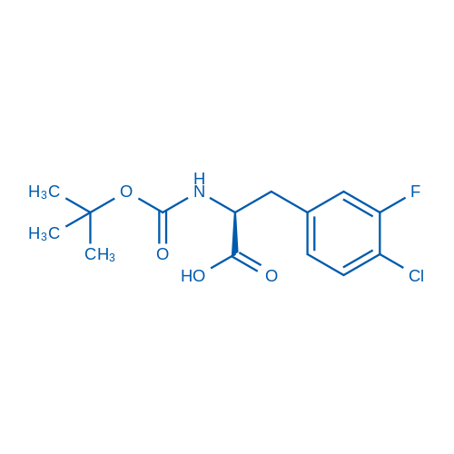 (S)-2-((tert-Butoxycarbonyl)amino)-3-(4-chloro-3-fluorophenyl)propanoic acid