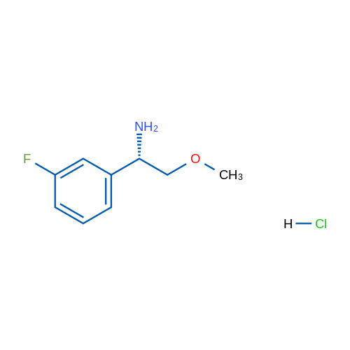 (S)-1-(3-Fluorophenyl)-2-methoxyethanamine hydrochloride