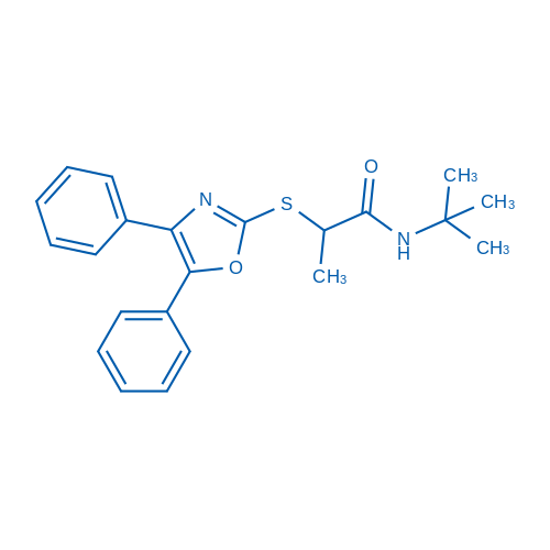 N-(tert-Butyl)-2-((4,5-diphenyloxazol-2-yl)thio)propanamide